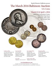 The March 2016 Baltimore Auction, U.S. Coins