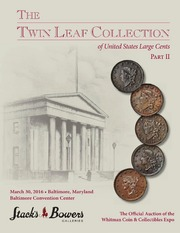 The Twin Leaf Collection of United States Large Cents, Part II