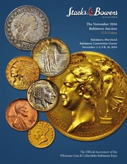 The November 2016 Baltimore Auction, U.S. Coins