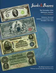 The November 2016 Baltimore Auction, U.S Currency