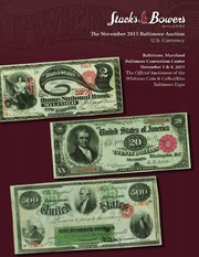 The November 2015 Baltimore Auction, U.S. Currency