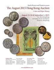 The August 2015 Hong Kong Auction, Coins and Paper Money