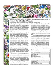 Vol v.37, no.3: Sage notes : Idaho Native Plant Society newsletter