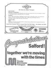 750 Year Salford Festival, 1230-1980: souvenir programme