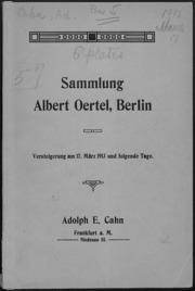 Sammlung Albert Oertel, Berlin