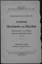 Sammlung Hermann von Heyden