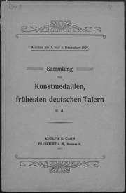 Sammlung von Kunstmedaillen, fruehesten deutschen Talern