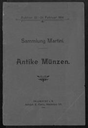 Sammlung Martini, Antike Muenzen