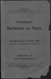 Sammlungen Buchenau und Haye