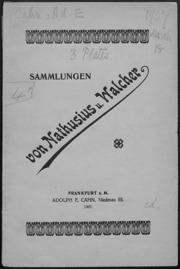Sammlungen von Nathusius u. Walcher