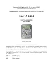 Sample Slab Update Newsletter