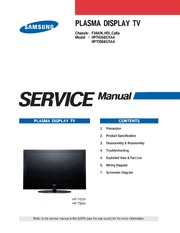 Samsung tv/ television instruction in the english language a.