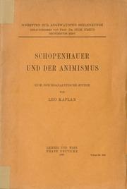 Schopenhauer und der Animismus. Eine psychoanalytische Studie