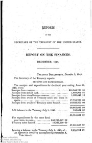 Report of the Secretary of the Treasury on the State of the Finances (1849)