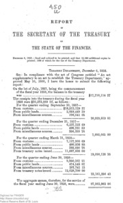 Report of the Secretary of the Treasury on the State of the Finances (1858)