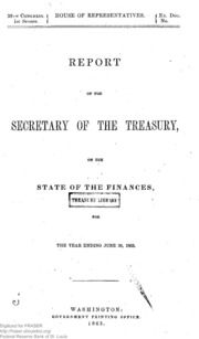 Report of the Secretary of the Treasury on the State of the Finances (1863)