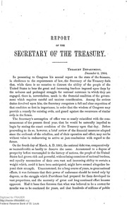 Report of the Secretary of the Treasury on the State of the Finances (1864)