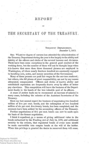 Report of the Secretary of the Treasury on the State of the Finances (1872)