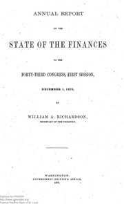 Report of the Secretary of the Treasury on the State of the Finances (1873)
