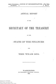 Report of the Secretary of the Treasury on the State of the Finances (1876)