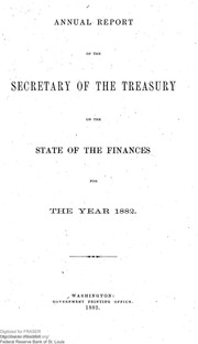 Report of the Secretary of the Treasury on the State of the Finances (1882)