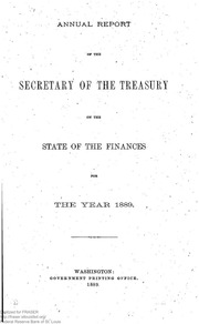 Report of the Secretary of the Treasury on the State of the Finances (1889) (pg. 586)