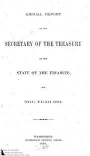 Report of the Secretary of the Treasury on the State of the Finances (1891)