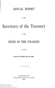Report of the Secretary of the Treasury on the State of the Finances (1902)
