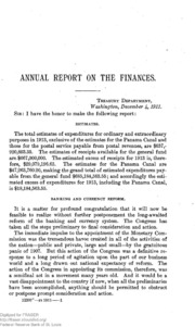 Report of the Secretary of the Treasury on the State of the Finances (1911)