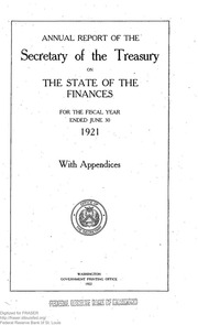 Report of the Secretary of the Treasury on the State of the Finances (1921) (pg. 872)