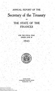 Report of the Secretary of the Treasury on the State of the Finances (1943)