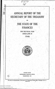 Report of the Secretary of the Treasury on the State of the Finances (1946)