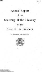Report of the Secretary of the Treasury on the State of the Finances (1948)