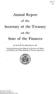 Report of the Secretary of the Treasury on the State of the Finances (1949)