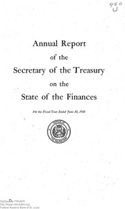 Report of the Secretary of the Treasury on the State of the Finances (1950)