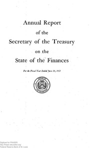 Report of the Secretary of the Treasury on the State of the Finances (1953)