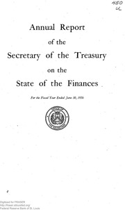 Report of the Secretary of the Treasury on the State of the Finances (1956)