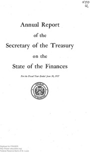 Report of the Secretary of the Treasury on the State of the Finances (1957)