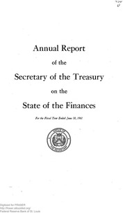 Report of the Secretary of the Treasury on the State of the Finances (1961)
