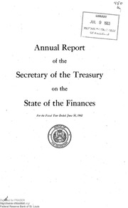 Report of the Secretary of the Treasury on the State of the Finances (1962)