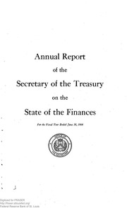 Report of the Secretary of the Treasury on the State of the Finances (1964)