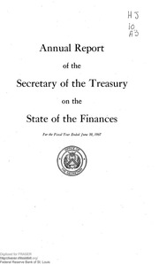 Report of the Secretary of the Treasury on the State of the Finances (1967)