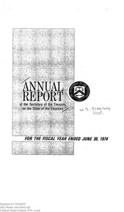 Report of the Secretary of the Treasury on the State of the Finances (1974)