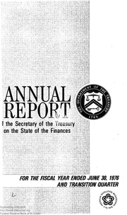 Report of the Secretary of the Treasury on the State of the Finances (1976)