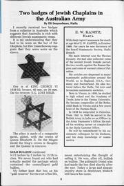 The Shekel, vol. 20, no. 1 (Spring 1987)
