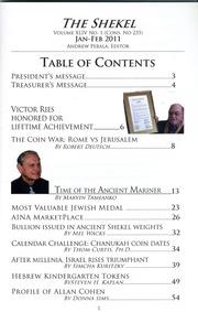 The Shekel, vol. 44, no. 1 (January-February 2011)