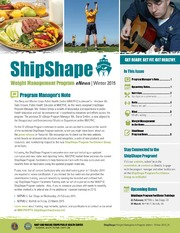 ShipShape Weight Management eNews Winter 2015
