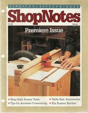 Woodworking Shopnotes 028 - Drilling Guide