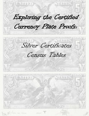 Silver Certificates Plate Proof Census Tables