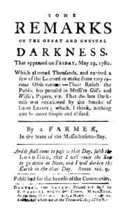 On the Dark Day of May 19, 1780. : MVT : Free Download ...